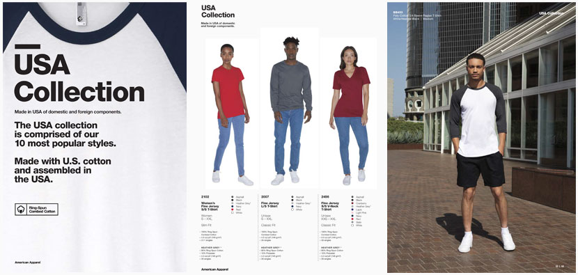 American Apparel Domestic Catalog