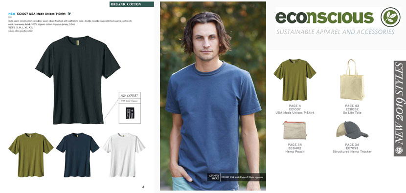 Econscious Apparel Catalog Made in USA